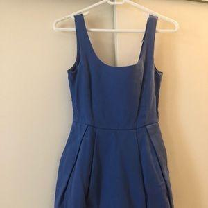 Beauty bright blue dress